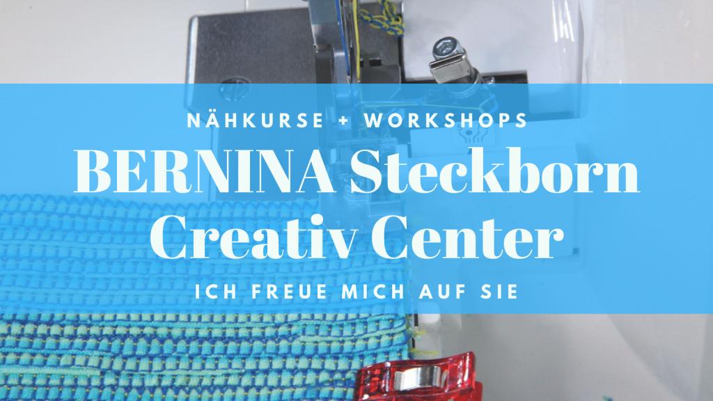 In Steckborn ist die geballte BERNINA Power zu Hause. Hier gebe ich im Creativ Center diverese Workshops.
