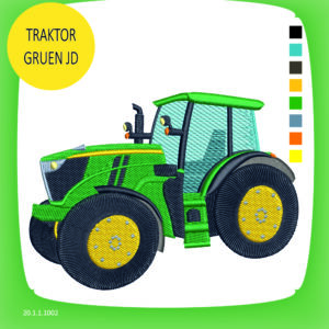 Stickdatei: Traktor JD grün