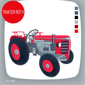 Stickdatei: Traktor Rot H